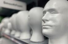 Styrofoam Heads On Display At ...