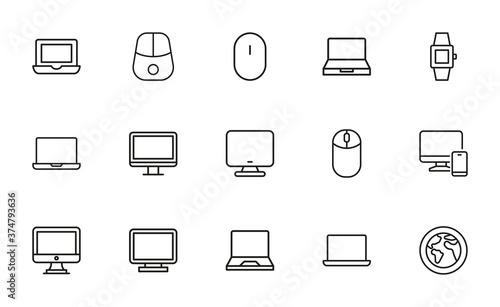 Tablou Canvas Web site line icons set.