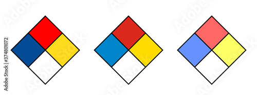 Blank NFPA diamond sign, chemical safety sign vector Canvas Print