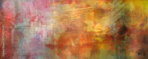 Canvastavla rot pink beige ocker sepia texturen banner
