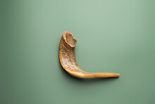 Shofar On Color Background. Ro...