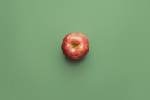 Fresh Apple On Color Background