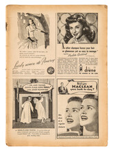 Newspaper Page English Text Vintage Advertising Pictures British Magazine