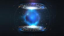 Futuristic Circles Forming A P...