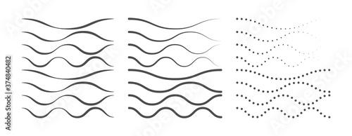 Billede på lærred Set of curved lines for creative design