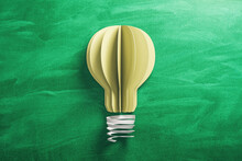 Yellow Light Bulb Made From Pa...