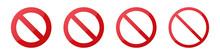 Set Of Prohibition Circle Temp...