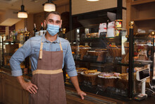 Male Baker Wearing Medical Fac...