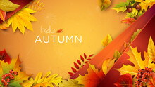 Autumn Illustration For Text W...