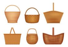 Wicker Basket. Handcraft Decor...