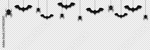 Tela halloween background transparent vector