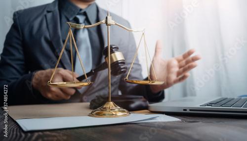 Carta da parati Justice and law concept