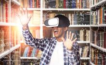 Black Student In VR Headset St...