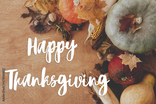 Happy Thanksgiving greeting card Fototapeta