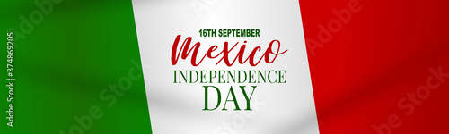 Fototapeta Mexico Independence Day banner