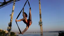 Circus Performer On Aerial Str...
