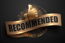 Gold Recommended Banner With G...