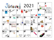 January Quirky Holidays And Unusual Celebrations