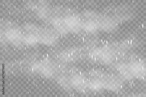 realistic falling snow or snowflakes Fotobehang