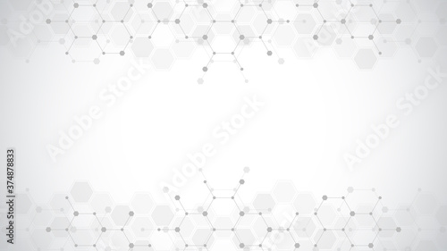Abstract molecules background Fototapet