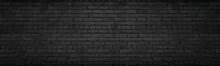 Black Brick Wall Wide Texture....