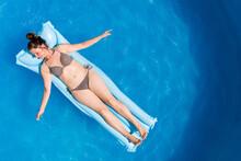 Young Woman In Bikini On Air M...