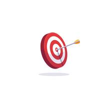 Archery Target And Arrows. Goa...