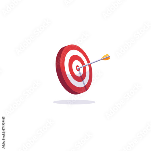 Photo Archery target and arrows