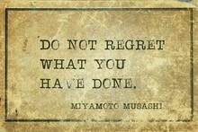 Do Not Regret Musashi