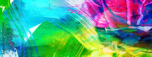 Fototapeta farben abstrakt gewischt malerei kontraste banner