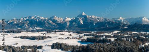 Tela beautiful panoramic landscape in Bavaria in winter