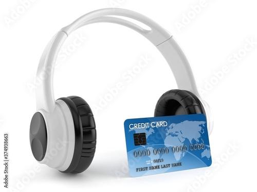 Fotografia Headphones with credit card
