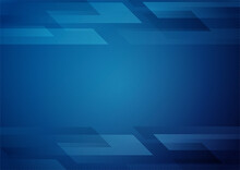 Abstract Blue Gradient Geometr...