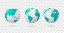 Globe Earth World Vector Map. ...