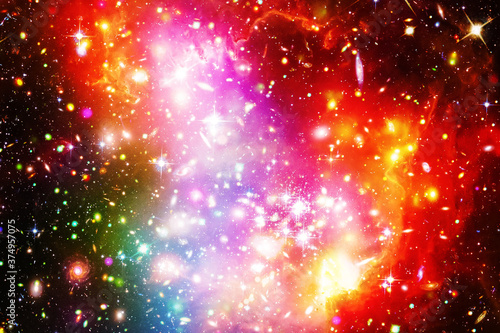 Tablou Canvas Gorgeous galaxy and stars