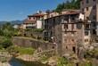 Die Altstadt von Castelnuovo di Garfagnana in der Toskana in Italien