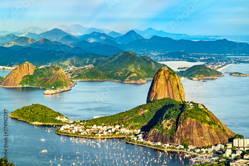 View of Sugarloaf Mountain in Rio de Janeiro - Brazil, South America Wallpaper Mural