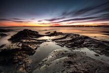 Rocky Beach At Sunset, Cork, I...