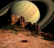 Conceptual View Of Saturn Risi...