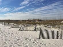 Wooden Fences On Beach, Pensacola, Santa Rosa Island, Florida, USA