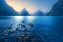 Fiordland National Park At Sun...