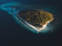 Aerial View Of North Caye Isla...