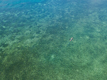 Aerial View Of A Pirogue Boat ...