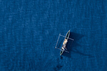 Aerial View Of A Fisherman And...