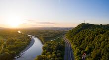 Panoramic Aerial View Of Sceni...