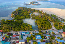 Aerial View Of Local Island Hu...