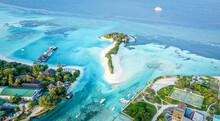 Aerial View Of Local Island Hu...