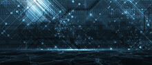 Abstract Tech Background. Futu...