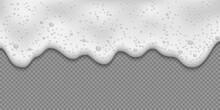 White Soap Forth, Foam Texture...