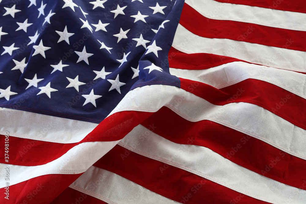 Fototapeta Rippled USA flag